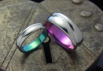 チタンの指輪と指輪のサイズ感